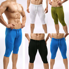 JYUS Men Sports Athlete Workout Bike Elastic Fitness Shorts Tights Pants
