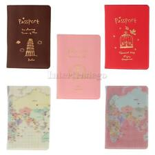 Safe Secure Travel Accessories PU Leather Passport Cover Holder Birthday Gift