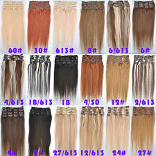 70g 80g 100g 120g Clip In Human Hair Extensions 15''18''20''22''24''26''28'' Lot