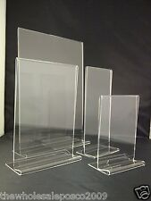 Menu Holders Price List Sign Display Leaflet Flyer Stands Cafes Restaurant Bars