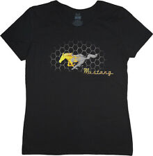 Ladies t-shirt Ford Mustang pony grill design women's size tee shirt