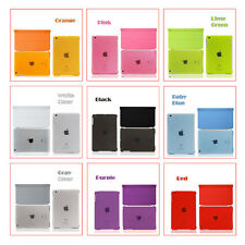 Magnetic Smart Cover+Crystal Clear Color Back Cover Case for iPad Air/iPad Air 2