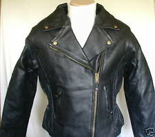 Ladies Womens Braided Premium Leather Motorcycle Jacket Retail$229 CLOSEOUT