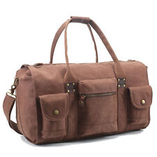 "19""Canvas Weekender Travel Luggage Bags Overnight Cross Body Duffle Totes Unisex"