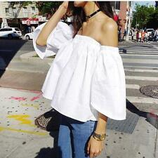 Fashion Summer Sexy Ladies Womens Off Shoulder Casual T-shirt Tops Blouse Vests