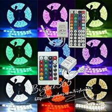 5M 5050 RGB LED Flexible Light Strips Lamp150LEDs/300LEDs Lights 44Key Power