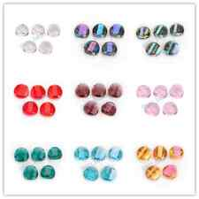 10/20pcs Charm Jewelry Glass Crystal Twist Tile Beads Spacer 18mm 27 Colors