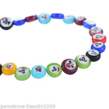 GB Wholesale Mixed Oblate Emotion Millefiori Lampwork Glass Beads Findings 8mm