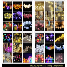 10/20/30/40-LED Battery Operated Wedding Xmas Decor String Yard Lamp Fairy Light
