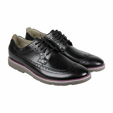 Clarks Gambeson Dress Mens Black Leather Casual Dress Lace Up Oxfords Shoes