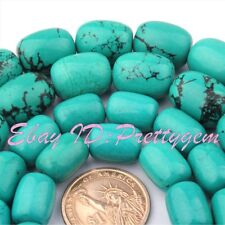 "Blue Turquoise Natural Column Gemstone Beads 15""  8x12mm 10x14mm 12x16mm 13x18mm"