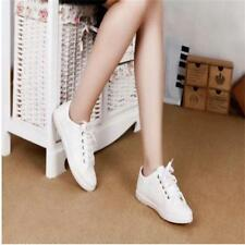 New!! Women Athletic Casual Flats Canvas Lace Up Running Sneakers Sport Shoes LG