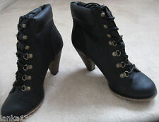 New Look High Heel Lace Up Boots Shoe (NEW) UK Size 7 Black or 8 Brown - £29.99