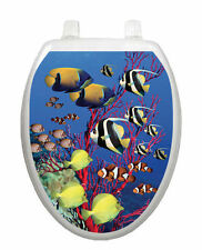 Coral Reef Toilet Tattoo  Removable Reusable Bathroom Decoration