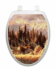 Elk Bull Toilet Tattoo  Removable Reusable Bathroom Decoration