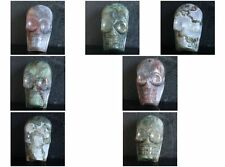 39mm Hand carved Indian Indian agate skull pendant bead