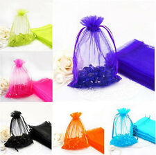 25/50/100pcs Strong Candy Gift Bag Sheer Organza Wedding Christmas Favor Pouch