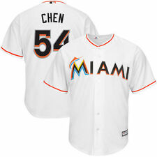 Wei-Yin Chen Miami Marlins White Home Official Cool Base Player Replica Jersey