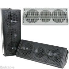 Pair of –Premium 320W Multi-Angle Dual Sub Speakers–Wall Mount Enclosure Cabinet