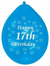 """Happy 17th Birthday 9"""" Party Balloons Latex CHOOSE YOUR QUANTITY"""