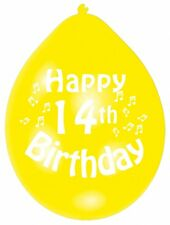 """Happy 14th Birthday Party 9"""" Balloons Colour CHOOSE YOUR QUANTITY"""