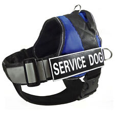Reflective Service Dog Harness Vest + Removable Chest Plate + 2 Velcro Patches