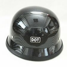DOT Motorcycle German War II-style Half Face Helmet Chopper Cruiser Head Guard