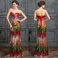 Long Evening Dress Sequins Floor-length Formal Party Prom Gown Bridesmaid Dress