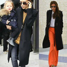 Beckham Style Look Military Parka women Winter Warm Wool Coat Long Jacket