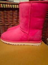 UGG Australia Classic Short Cancer Awareness Limited Edition Raspberry Boots