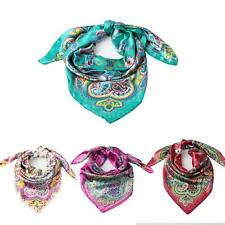 Square Scarf Thin Scarf Womens Satin Kerchief Pashima Large Shawl Wrap Z7U5