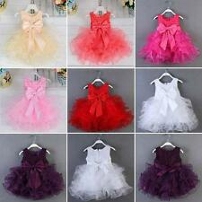 Summer Baby Girls Sequin Bowknot Tulle Dress Princess Party Wedding Sundress