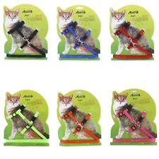 Adjustable Pet Cat Kitten Belt Nylon Lead Leash Collar Harness Safety Strap Rope
