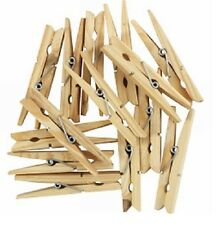 WOODEN PEGS CLOTHES PEGS WASHING LINE AIRER DRY LINE PEGS GARDEN WOODEN CLIPS
