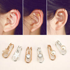 Ear Cuff Non Piercing Silver Gold Plated Cartilage Earrings Wrap Clip On Jewelry
