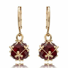 Fashion Women Lady Elegant Red Crystal Rhinestone Ear Drop Earrings Dangle CHI