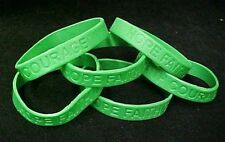 Green Awareness Bracelets 6 Piece Lot Silicone Jelly Wristband Cancer Cause New