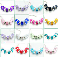 Wholesale 5PCS Silver Spacer  European Charm  BeadS Fit Necklace Bracelet