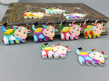 Cartoon Wooden Mix Dairy cow shape buttons sewing scrapbooking Crafts 34mm