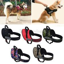 Comfortable Medium Large Dog Adjustable Pulling Vest Chest Harness 5Colors XS-XL