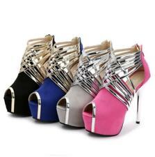 Sexy Womens High Heels Platform Peep Toe Stiletto Heels Sandals Pumps Shoes Size