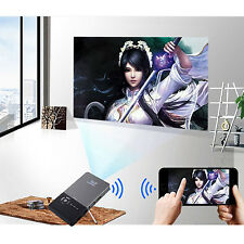 WiFi Bluetooth Android Smart DLP Handheld Mini LED Projector HDMI TV Box Player