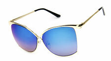 Oversized Women Sunglasses Butterfly Huge Gold Fashion Designer Style