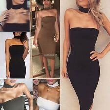 Sexy Strapless Women Stretch Bodycon Bandage Club Casual Party Maxi Long Dress
