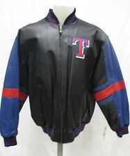 Texas Rangers Men's M, L Full Zip Official Embroidered Leather Jacket MLB A14TLM
