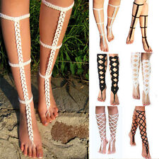 New Summer Beach Women Jewelry Sexy Crochet Barefoot Sandals Foot Chain Anklet