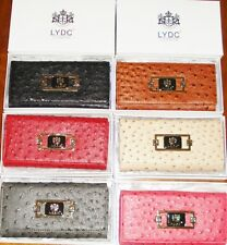 LYDC Ostrich Leather Style Purse with Gift Box