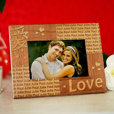 Personalized Love  Picture Frame Chinese Love Symbol Wood Valentines Photo Frame