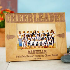 Personalized Cheerleader Picture Frame Engraved Cheer Leading Wood Photo Frame