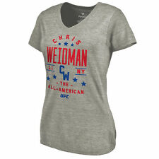 Chris Weidman UFC Women's Ash Starstruck Tri-Blend V-Neck T-Shirt